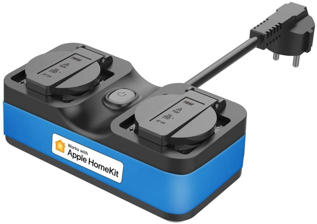 Enchufe Meross resistente al agua y compatible con Apple HomeKit
