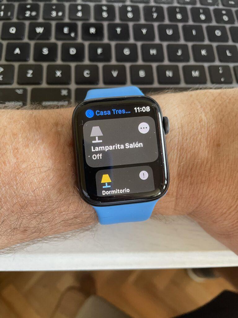 Dispositivos favoritos de Home+ en el Apple Watch