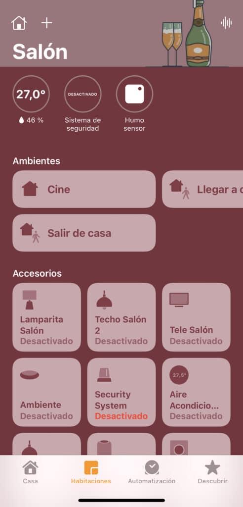 Dispositivos en app Casa
