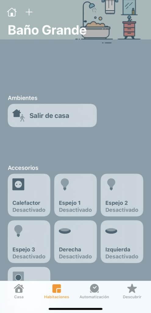 Dispositivos Baño app Casa