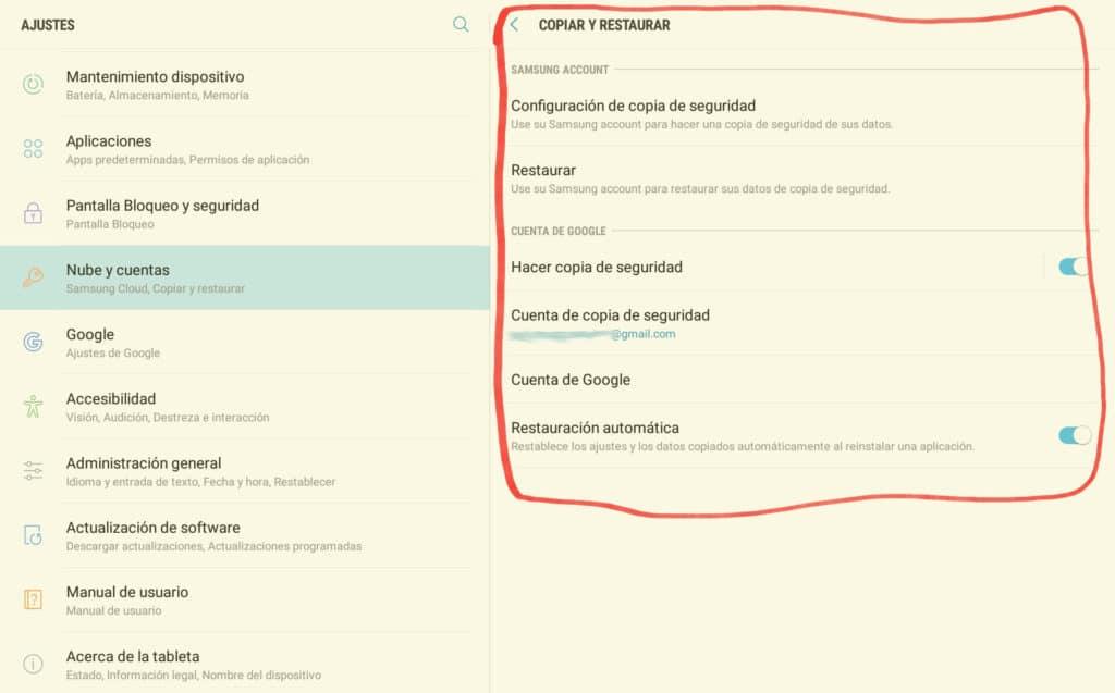 Cómo hace copias de Seguridad de los datos del teléfono móvil en Android