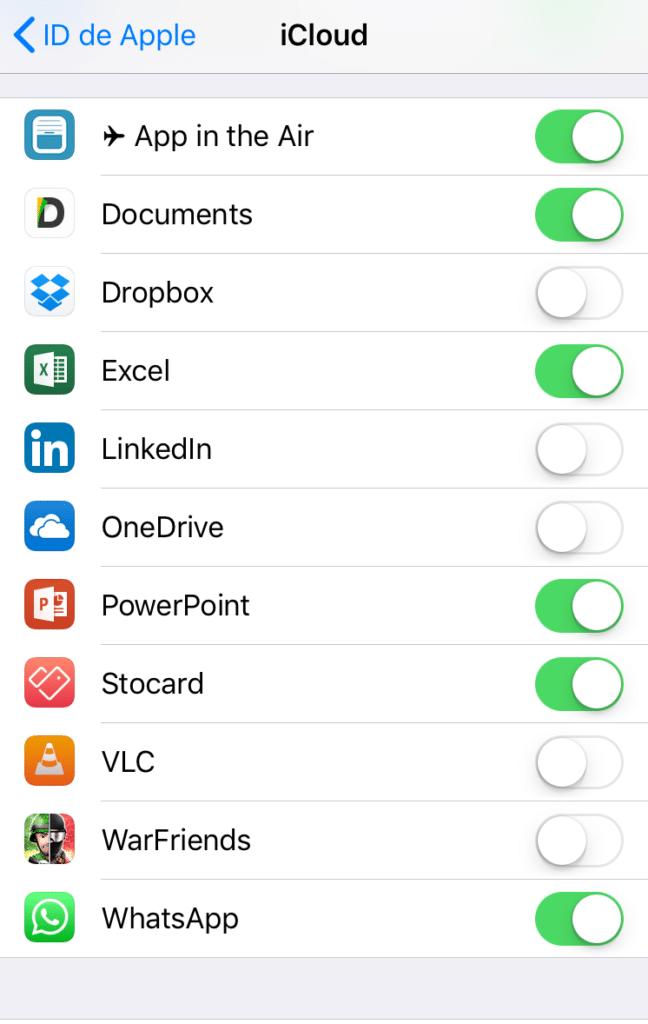 Cómo hacer copias de Seguridad de los datos de las apps del teléfono móvil en iOS