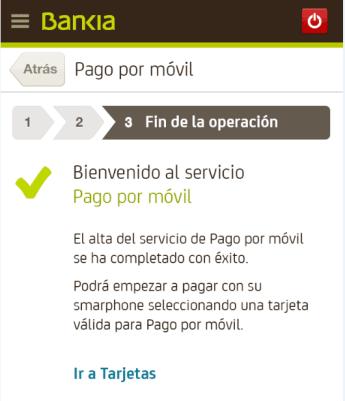 Pago móvil con la App de Bankia