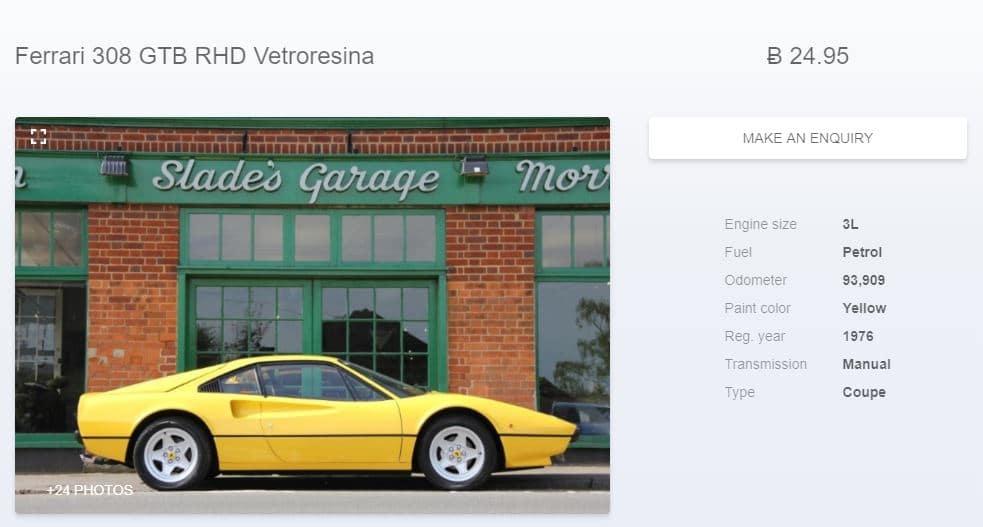 Comprar Ferrari GTB con Bitcoins