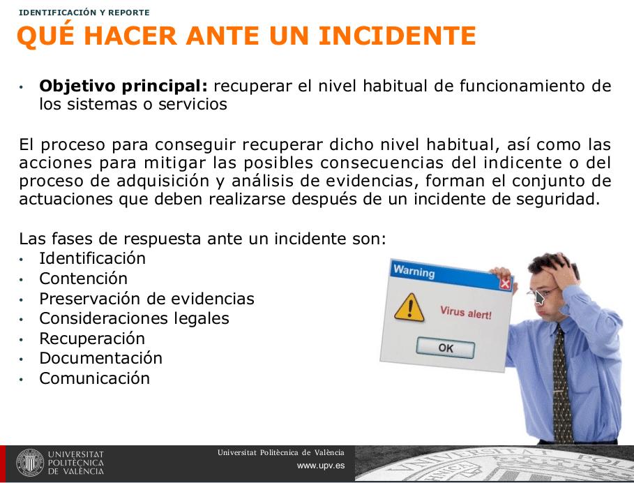 ¿Qué hacer ante un incidente de Seguridad?