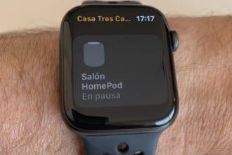 Estado de los dispositivos en la app Casa del Apple Watch