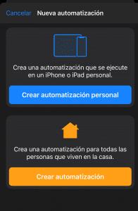 Automatización en Atajos con iOS13