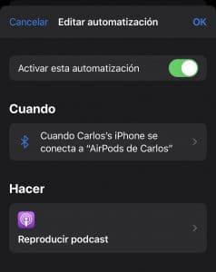 Automatización en conexiones con iOS13