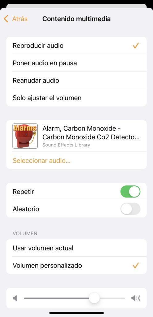 Seleccionar sonido para la alarma del HomePod
