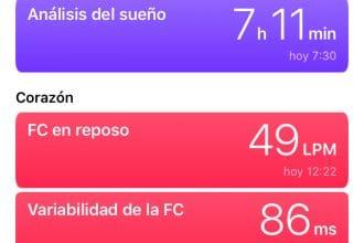 Aplicación Salud en iOS