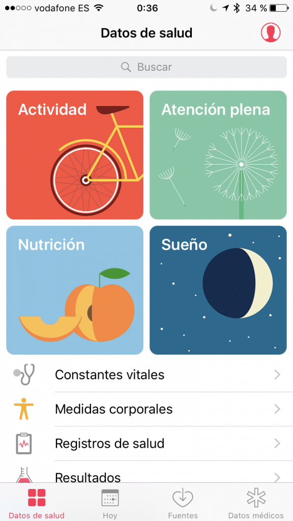 Datos de Salud en iOS