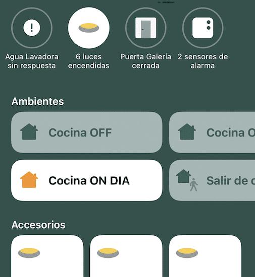 Luces de la cocina compatibles con Apple Homekit