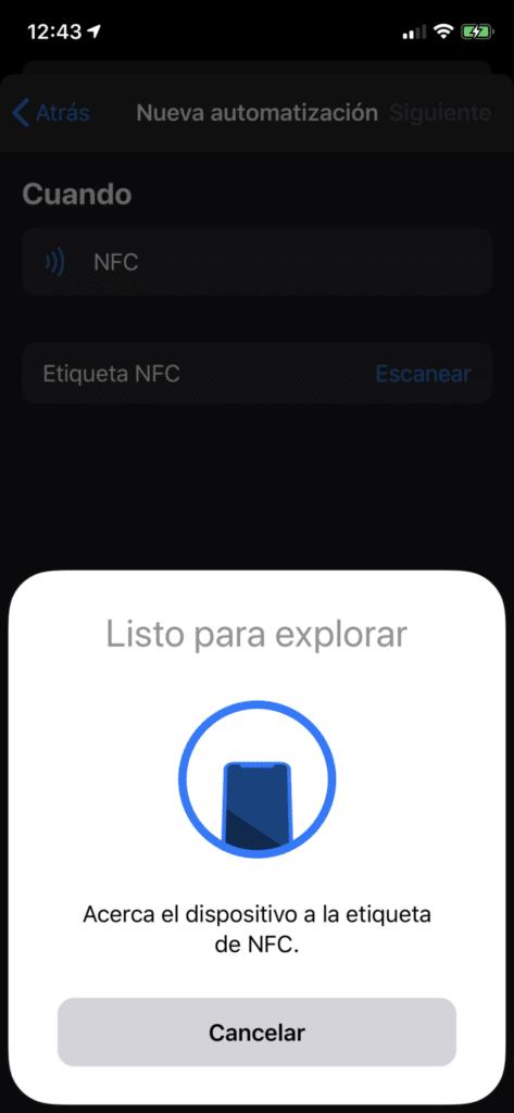 Escanear tag NFC
