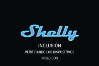 Dipositivo conectado a Shelly 2.5