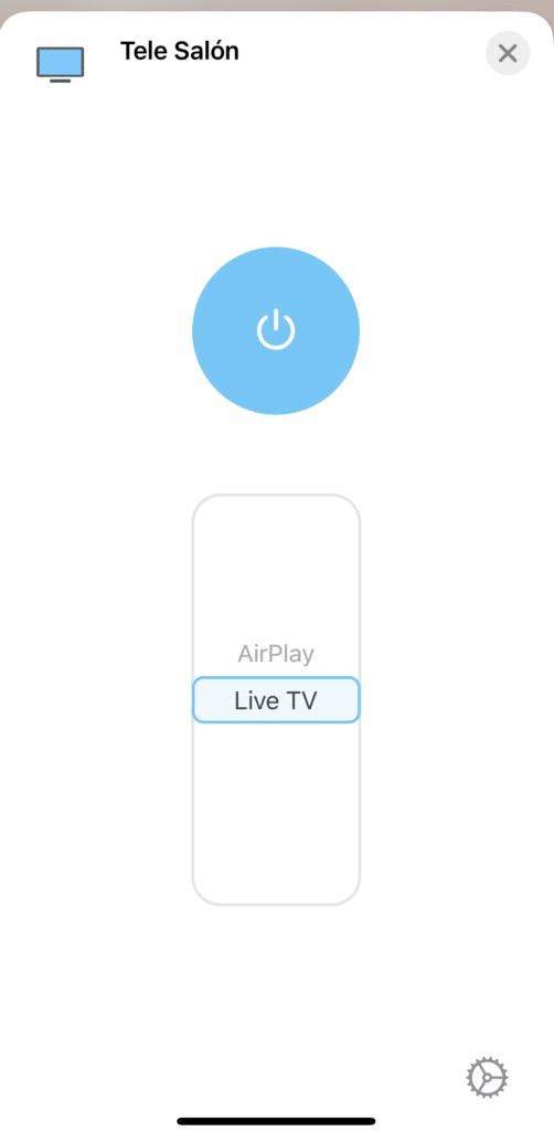Selección del modo o HDMI de la Televisión Compatible con Apple HomeKit