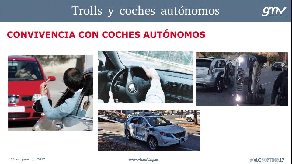 Problemas durante la convivencia con coches autónomos